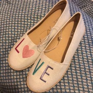 Brand NWT children's place love slipon shoes